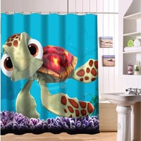 Best Selling Bathroom Product Print Cute Cartoon Finding Nemo Pictures Shower Curtain Waterproof For Children Size 122 x 182cm