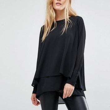 Y.A.S | Y.A.S Vinc Structure long Sleeve Top chez ASOS