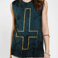 Truly Madly Deeply Splatter Cross Muscle Tee