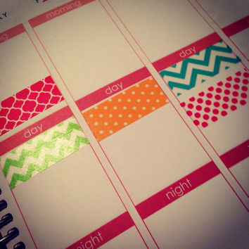 K2 Washi Stickers for Erin Condren Life Planner or Plum Paper Planner