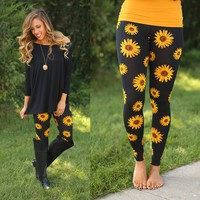 Daisies For Days Patterned Leggings