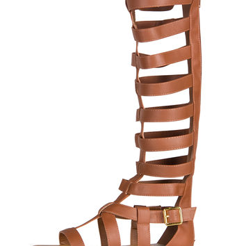 Tall Gladiator Sandals - Light Brown - 5.5