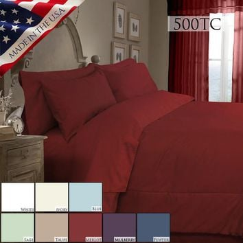 SUPREME SATEEN 500 SOLID COMFORTER SET IN DIFFERENT SIZES AND COLORS