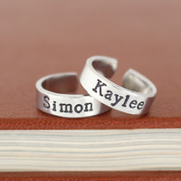 Simon and Kaylee - Firefly - Adjustable Aluminum Rings