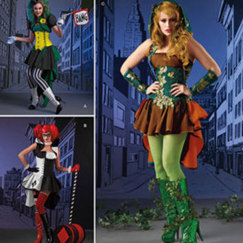 new Simplicity 1091 sz 14-22 Halloween Costume Pattern - Woodland Fairy Costume, Queen of Hearts Costume, Paper Pattern - Plus Sizes