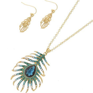 Fancy Feather Necklace Set