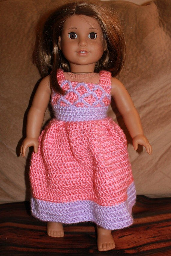 Crochet Dress Up Doll Pattern : 18 inch doll dress, crocheted doll dress, from Sisters Craft