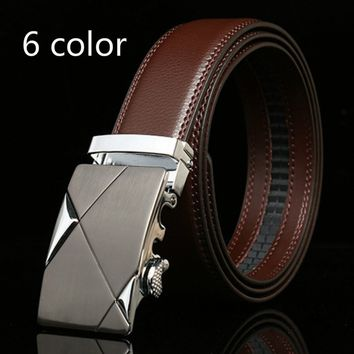 Ceinture Men's Belts Luxury Genuine Leather Belts for Men Automatic Buckle Belt Thanksgiving Gifts(6Color)