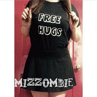 FREE HUGS shirt,  unisex graphic tee