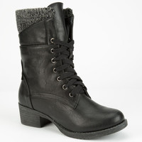 Diva Lounge Bailey Womens Boots Black  In Sizes