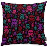 Skull Danger Throw Pillows by Alice Gosling | Nuvango