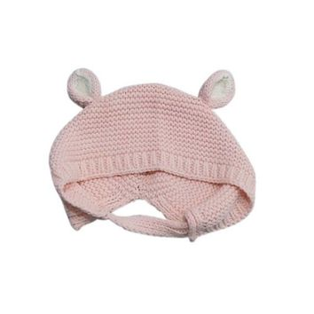 Spring Newborn Baby Infant Hat Ear Protection Toddler Wool Ear Knitting Hats Lovely  Warmer Caps Kids Hats