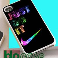 Rainbow Nike Just Do It For Iphone 4/4s, iPhone 5/5s, iPhone 5C, iphone 6, and iPhone 6 Plus Case
