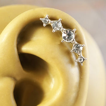 Crystal Ear Climbing Cartliage Earring Helix Piercing