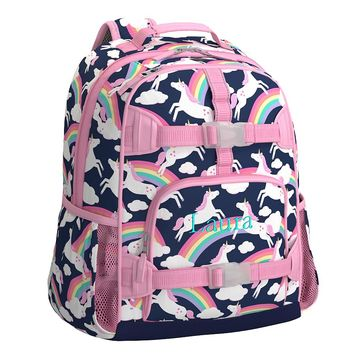 Mackenzie Navy Rainbow Unicorn Backpack