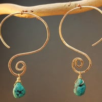 Nouveau 176 Interchangeable Hammered Swirl Earrings