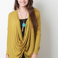Twisted Ribbed Knit Top