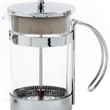 Norpro 5574 Coffee/Tea Press, Chrome Plated with Glass Bowl, 5-Cup