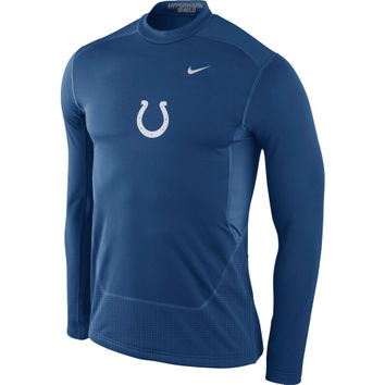 Indianapolis Colts Nike Hyperwarm Fitted Shield Max Long Sleeve Performance T-Shirt – Royal Blue