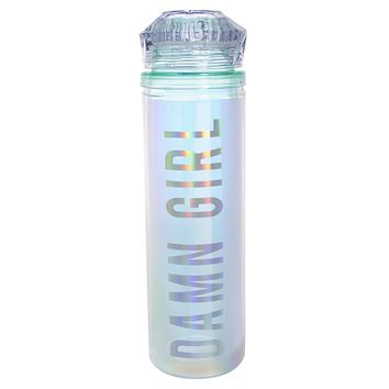 Damn Girl Iridescent Rainbow Water Bottle