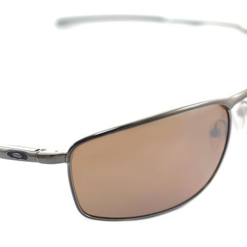 OAKLEY CONDUCTOR 8 POLARIZED OO4107-03 Mens Square Sunglasses TUNGSTEN IRIDIUM