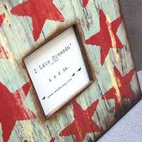 Rustic Barn Yard Stars 12 x 12 Wood Frame by Mmim on Etsy