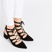 ASOS STREETS AHEAD Pointed Lace Up Heels