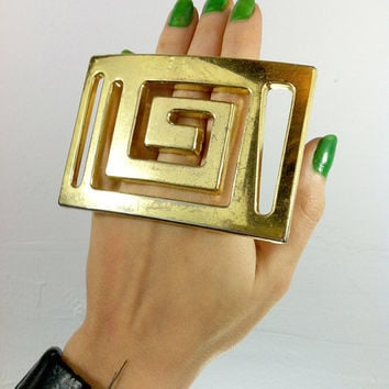 Oversized Handmade Plastic Costume Jewelry Ring, OOAK, OSFA, Discounted - As Is
