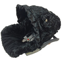 Black Roses Infant Car Seat Covers, Baby Slipcovers, Solid Black Slipcovers, Baby Seat Covers, Affordable Infant Car Seat Covers, Baby Cover