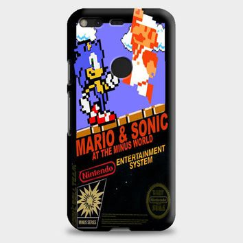 Super Mario Bros And Sonic At The Minus World Google Pixel XL Case