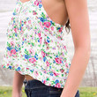 Great Expectations Pink Floral Boho Peasant Top