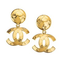 Chanel Quilted CC Earrings