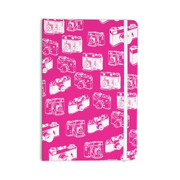 "KESS Original ""Camera Pattern"" Magenta Everything Notebook"