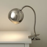 Silver Modern Clip Lamp   The Land of Nod