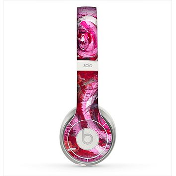 The Watercolor Bright Pink Floral Skin for the Beats by Dre Solo 2 Headphones