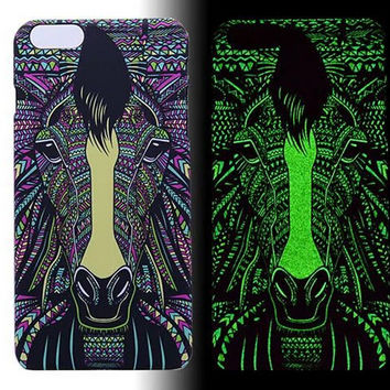 Horse Luminous Light Up Case Cover for iPhone 5s / iPhone 6s / iPhone 6s Plus