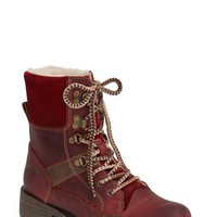 Women's Bos. & Co. 'Beauval' Waterproof Leather & Suede Lace-Up Boot