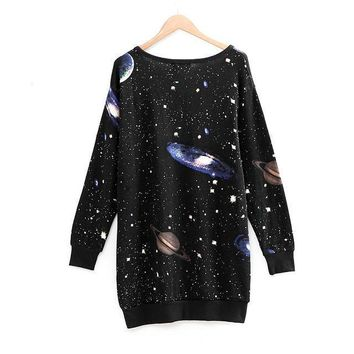Oversized Galaxy Space Knit Sweater