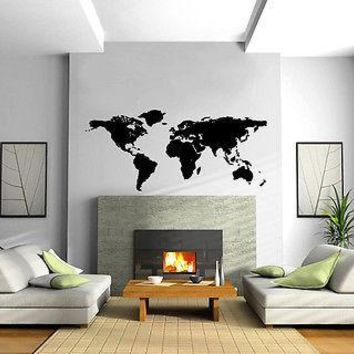 World Map Wall MURAL Vinyl Art Sticker Unique Gift M017