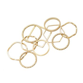 Geometric Multi Midi and Regular Size Ring Set of 10