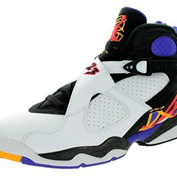 Nike Jordan Men's Air Jordan 8 Retro White/Infrrd 23/Blk/Brght Cncr Basketball Shoe 10 Men US  air jordans in white