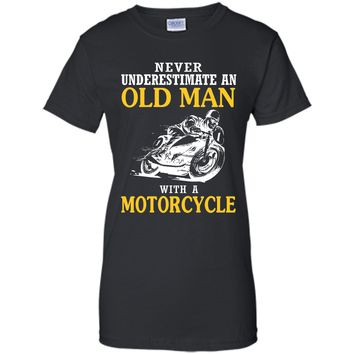 An Old Man With A Motorcycle T-Shirts - Funny Tee T-Shirt