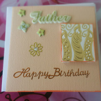 Birthday Card Father Mini Card - Handmade Cards - Any occasion cards - Made in Australia - unique cards  -  Mini Cards