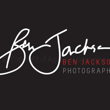 Photography logo design handwritten signature logo for photographer. 5 files supplied Vector, layered psd and watermark files included.