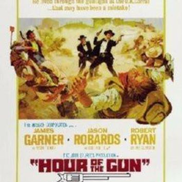 Hour Of The Gun Movie poster Metal Sign Wall Art 8in x 12in