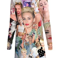 Miley Cyrus Paparazzi Long-Sleeve Dress