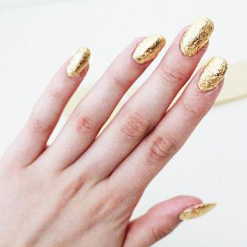 Gold Leaf For Nail Art 20 Sheets Imitation 24k Gold Gilding Nail Art Foil