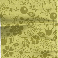 Green Floral Cotton Fabric, by Riley Blake Designs Sunny Skies, 1/2 yard, More Yardage Available
