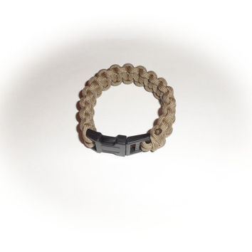 Grey Paracord Survival Bracelet For Men, Boys, Girls, and Women FREE Shipping US Only