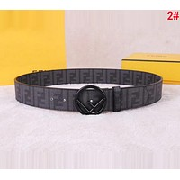FENDI Newest Popular Woman Men Casual F Letter Smooth Buckle Leather Belt